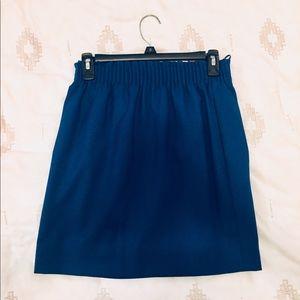 J Crew Blue wool sidewalk skirt